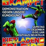 Kiezdemo: Friedel54 kämpft - Kiezladen bleibt!