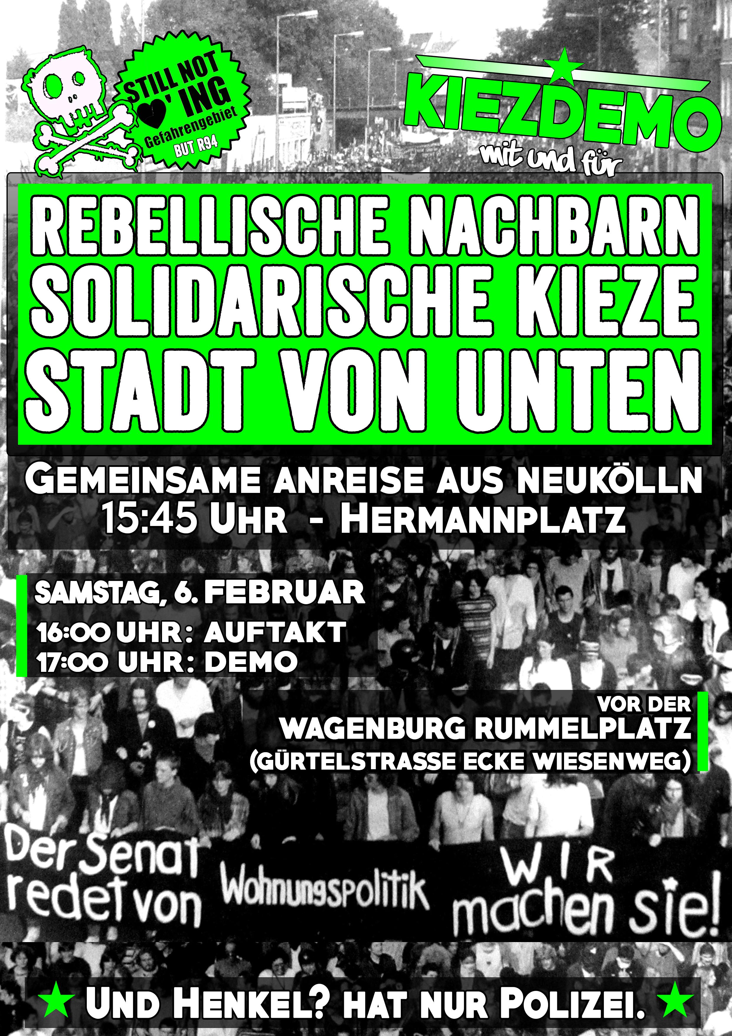 [Demo] 06. Februar: Rebellische Nachbarn – Solidarische Kieze – Die Stadt von Unten