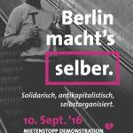 [Demo] 10. September: Mietrebell*in: Kampf den Mieten, Zwangsräumungen und Sozialabbau!