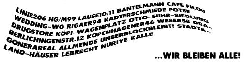 Immer wieder sonntags: 14.00 Uhr Kundgebung gegen Verdrängung vor dem Laden Friedelstraße 54