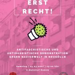 25. März 2017 | U-Bhf. Rudow | antifaschistische Demonstration: Jetzt erst recht! Offensiv gegen Nazigewalt und Rassismus – Solidarität mit den Angegriffenen!