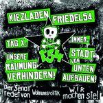 [GER/ENG/TUR/ESP] Erster Räumungstermin für Kiezladen Friedel54
