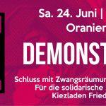 [PM] Heute: Demo gegen geplante Räumung des Kiezladens Friedel54 in Neukölln
