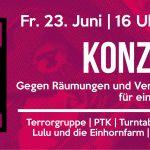[Friedel54] 23. Juni: Konzert & Kundgebung
