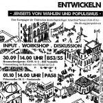 """Vortrag + Workshop """"Solidarische Perspektiven entwickeln – jenseits von Wahlen und Populismus"""""""