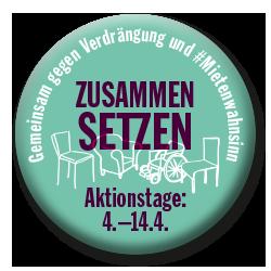 Aktionswoche & Demonstration WIDERSETZEN – Gemeinsam gegen Verdrängung und Mietenwahnsinn Potsdamer Platz, 14. April 2018, 14 Uhr
