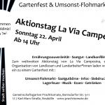 Gartenfest und Umsonstflohmarkt zum Internationalen Tag des kleinbäuerlichen Widerstands | So. 22.04. - 14 - 18 Uhr | @ Gemeinschaftsgarten Prachttomate | weitere Aktionen am 17.4.