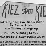 So. - 08.04. - 14 Uhr | Reuterplatz | Verdrängung und Widerstand im Reuterkiez - ein Kiezspaziergang