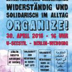 Antikapitalistische Demonstration und Aktionswoche: Widerständig und solidarisch im Alltag – Organize! | Demo am 30.4., 16 Uhr