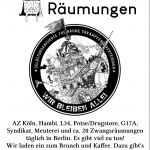 Café gegen Räumungen   06.10. - 12 Uhr   @ B-Lage (Mareschstr. 1)