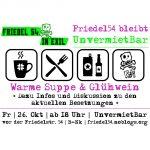 Fr – 26.10. – 18 Uhr – UnvermietBar vor der Friedel54 + Infos zu den Besetzungen