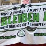 Pressemitteilung und Einladung zur Urteilsverkündung am 12.02.2020 bzgl. des Transparentes an der Friedelstraße 54 in Berlin-Neukölln.