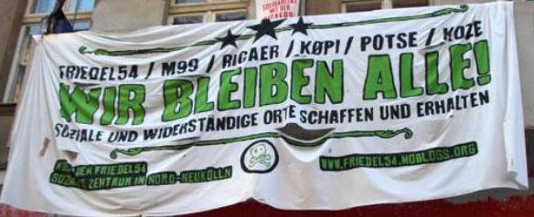Pressemitteilung und Einladung zur Urteilsverkündung am 19.02.2020 bzgl. des Transparentes an der Friedelstraße 54 in Berlin-Neukölln.
