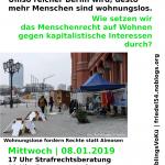 Info-Abend zu Wohnungslosigkeit, Strafrechtsberatung und Essen | Mi. 08.01.2020 @ Ida Nowhere, Donaustr. 79