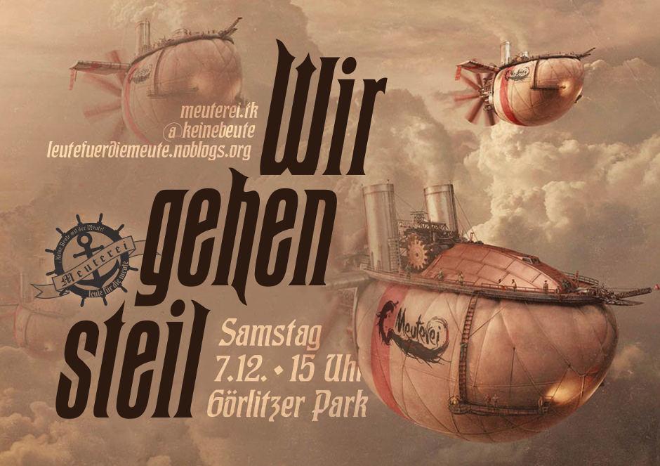 Sa., 07.12., 15.00 Uhr | Demo für die Meuterei! | @ Görlitzer Park