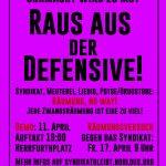 Räumungen, Abschiebungen, Faschisierung – Raus aus der Defensive - Demo am 11.04.2020 - 19 Uhr - Herrfurthplatz
