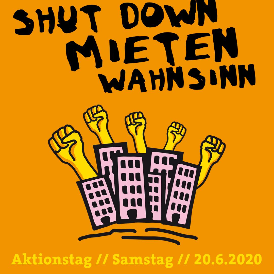 Shut down Mietenwahnsinn – Sa. – 20.06.2020 – 12 Uhr Hermannplatz – 14 Uhr Potsdamer Platz