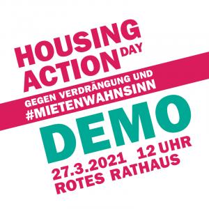 27.03.2021 – 12 Uhr – Rotes Rathaus – Demo gegen Verdrängung und #Mietenwahnsinn – europaweiter Housing Action Day