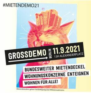 Großdemo – 11.9.21 – 13 Uhr – Alexanderplatz – WOHNEN FÜR ALLE! Gemeinsam gegen hohe Mieten und Verdrängung